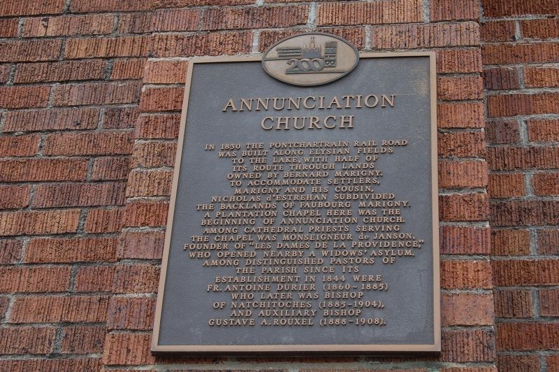Annunciation Church Marker image. Click for full size.