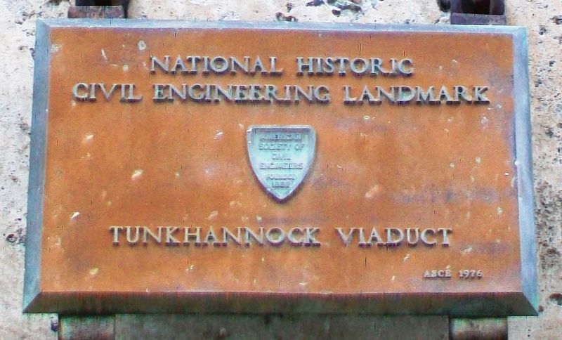 Tunkhannock Viaduct NHCEL Marker image. Click for full size.