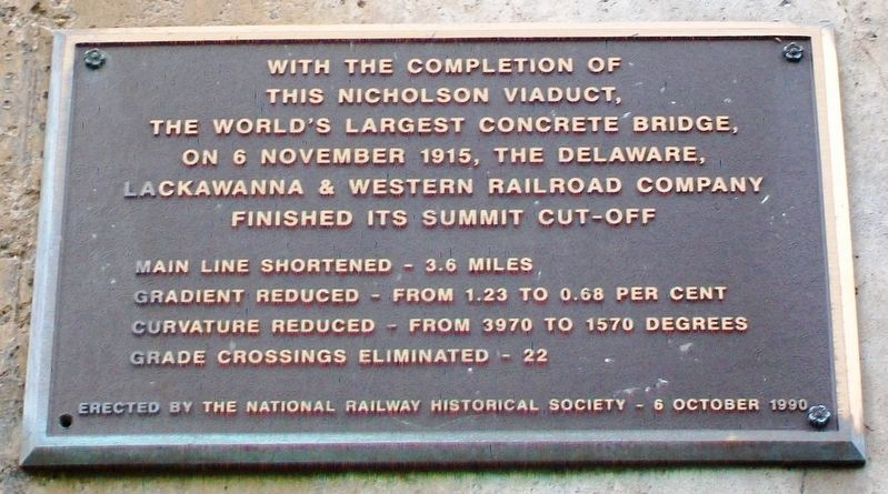 Tunkhannock Viaduct NRHS Marker image. Click for full size.
