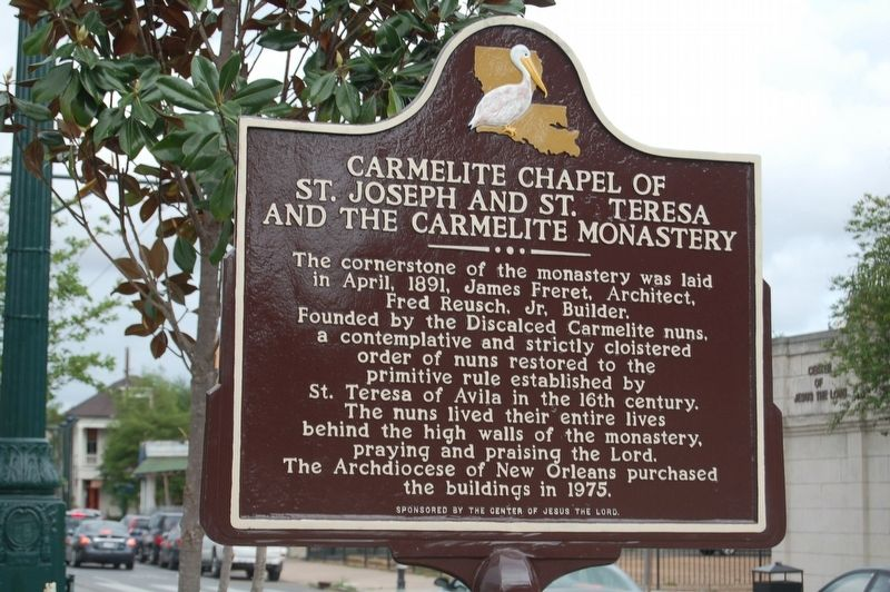 Carmelite Chapel of St. Joseph and St. Teresa and the Carmelite Monastery Marker image. Click for full size.
