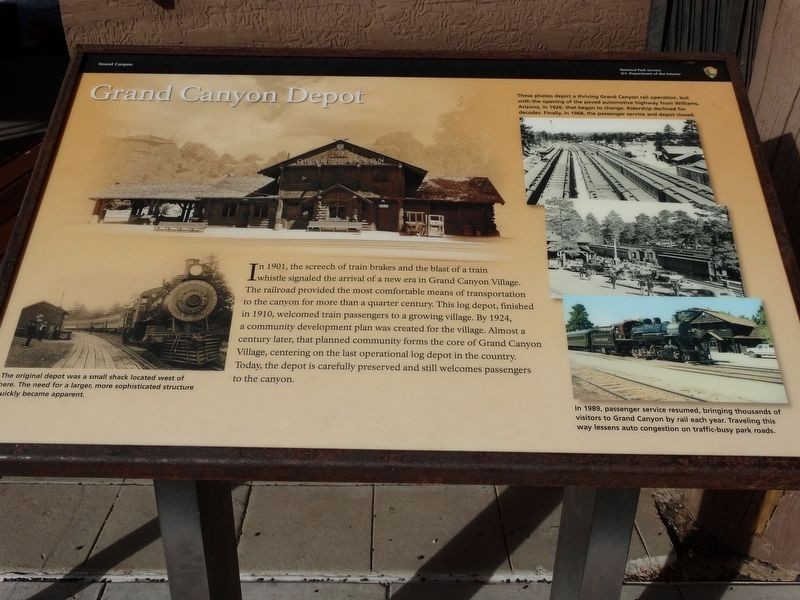Grand Canyon Depot Marker image. Click for full size.