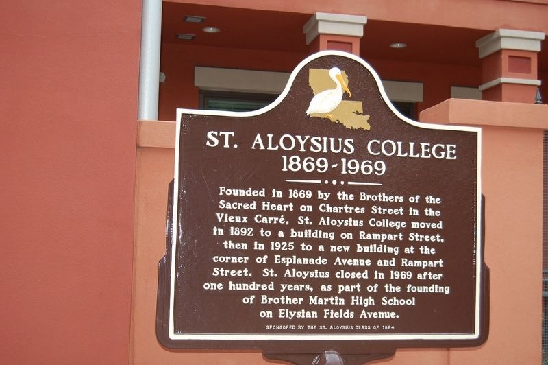 St. Aloysius College Marker image. Click for full size.