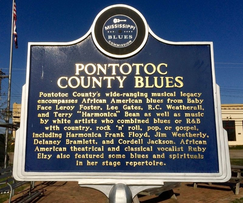 Pontotoc County Blues Marker (Front) image. Click for full size.