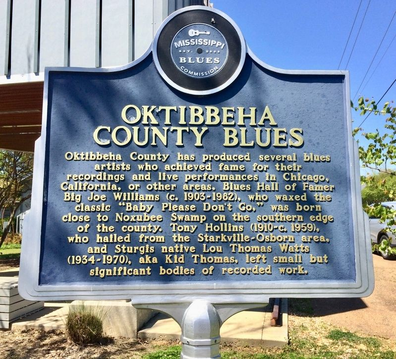 Oktibbeha County Blues Marker (Front) image. Click for full size.