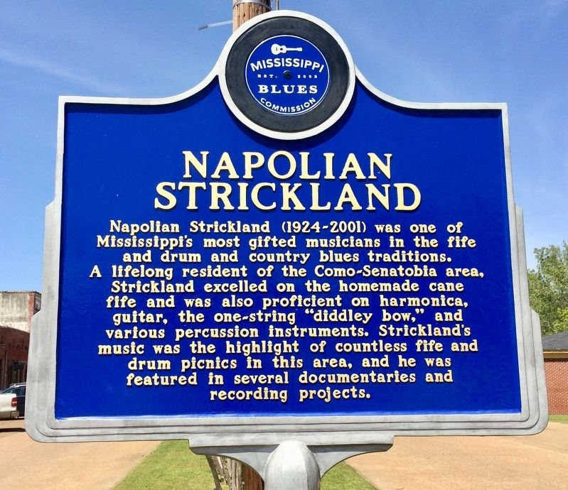 Napolian Strickland Marker (Front) image. Click for full size.