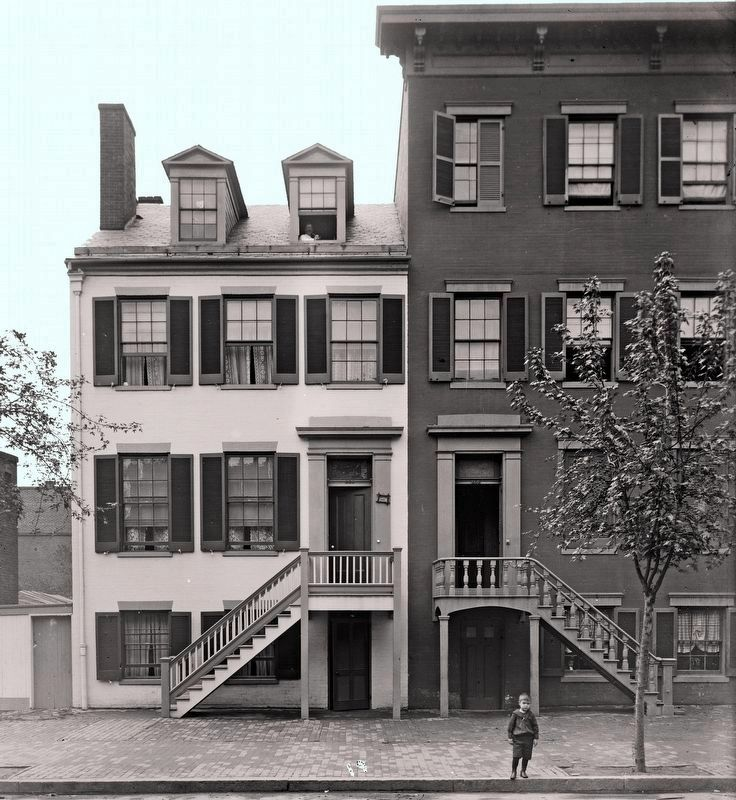 Mrs. Mary Surratt house<br>between 1890 and 1910 image. Click for full size.