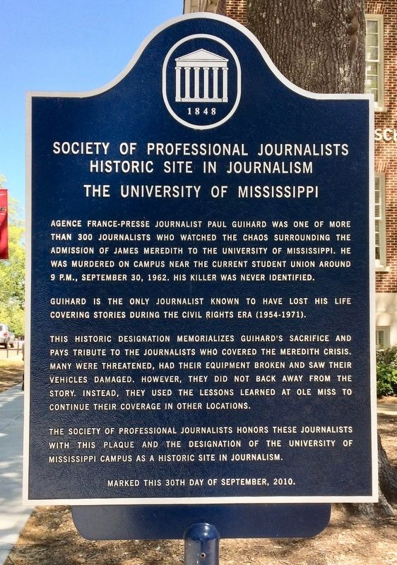 Society Of Professional Journalists Historic Site in Journalism Marker image. Click for full size.