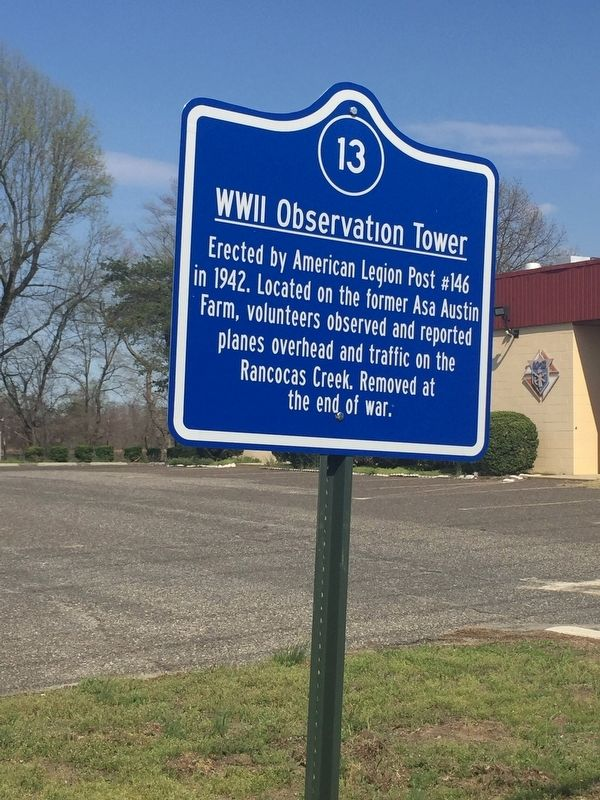 World War II Observation Tower Marker image. Click for full size.