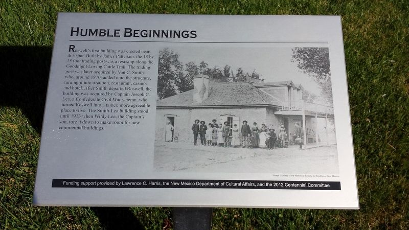Humble Beginnings Marker image. Click for full size.