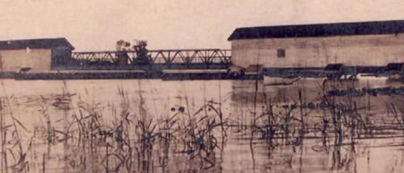 Bridgeboro Bridge - covered bridge image. Click for full size.