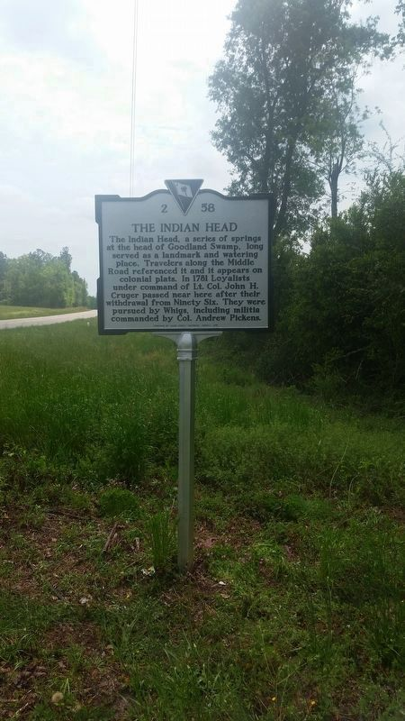 Indian Head / The Middle Road Marker image. Click for full size.