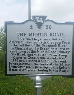 The Middle Road Marker image. Click for full size.