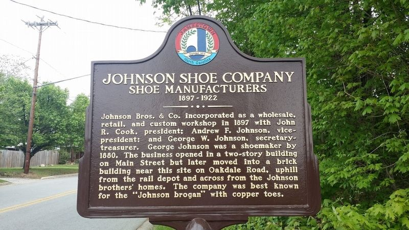 Johnson Shoe Company Marker image. Click for full size.