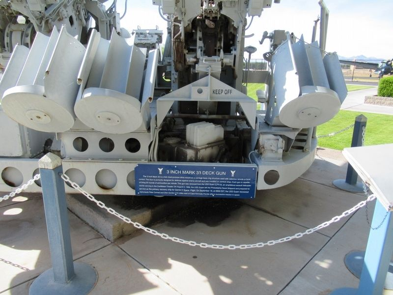 3-Inch Mark 33 Deck Gun Marker image. Click for full size.