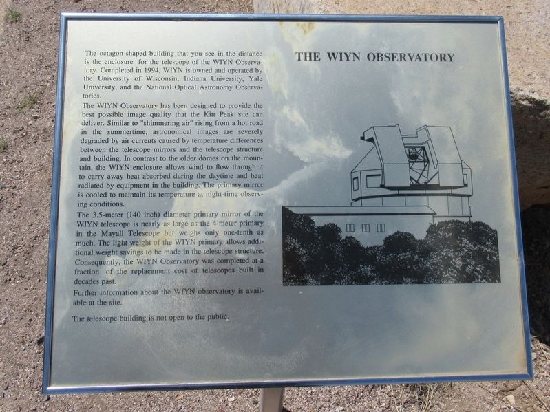 The WIYN Observatory Marker image. Click for full size.
