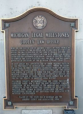 Cooley Law Office Marker image. Click for full size.
