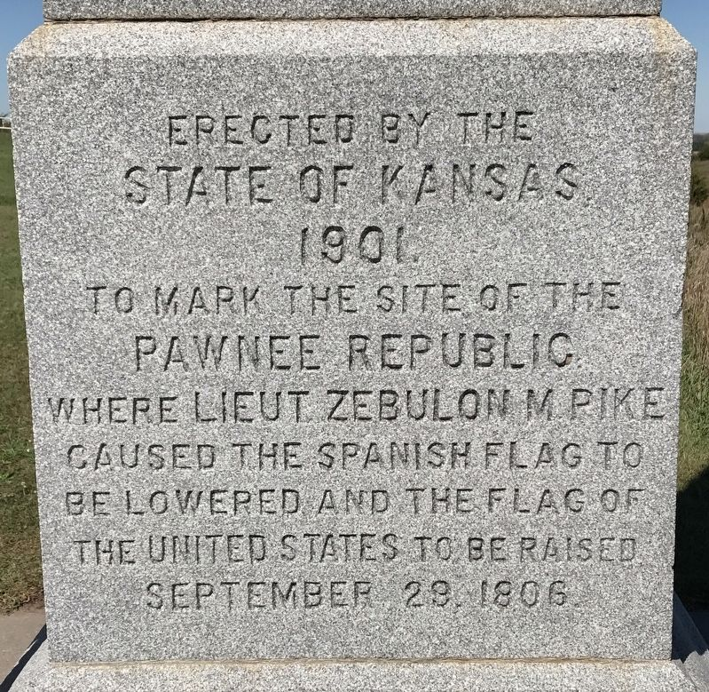 US Flag Raised over Pawnee Republic Marker image. Click for full size.