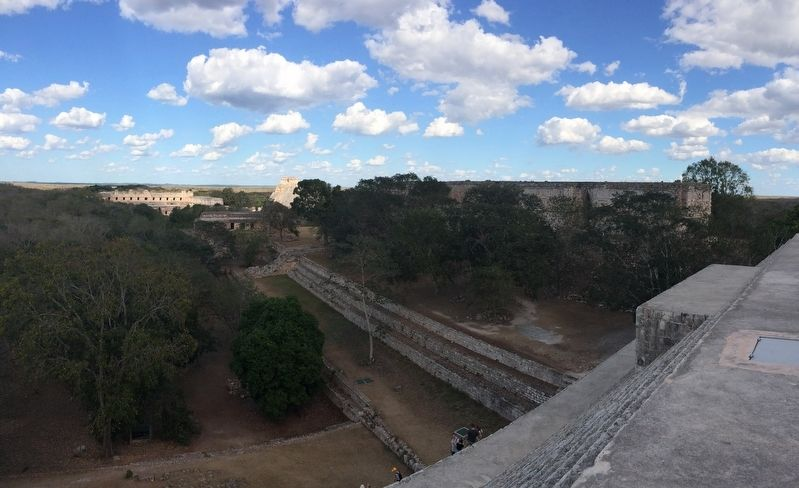 A view towards the north from The Great Temple at Uxmal image. Click for full size.