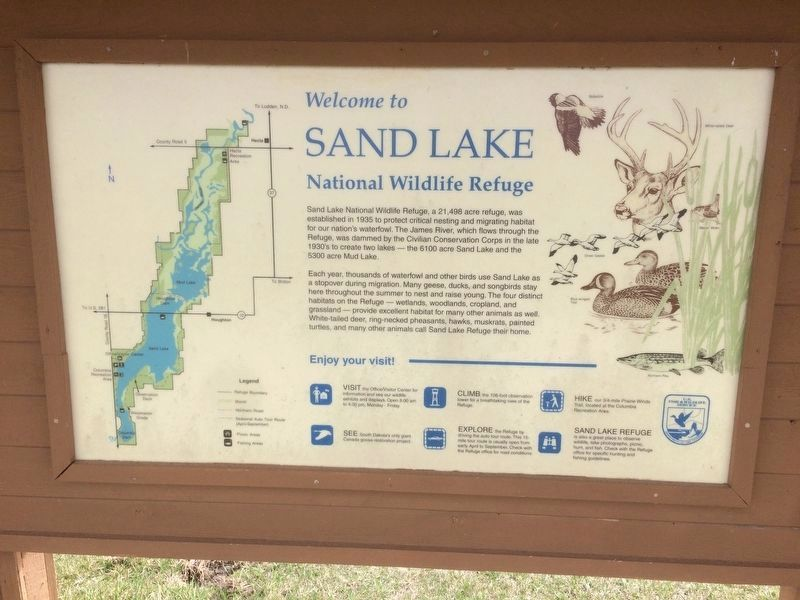 Sand Lake National Wildlife Refuge Marker image. Click for full size.