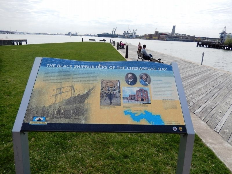 The Black Shipbuilders of the Chesapeake Bay Marker image. Click for full size.