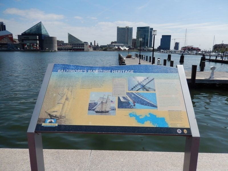 Baltimore's Maritime Heritage Marker image. Click for full size.