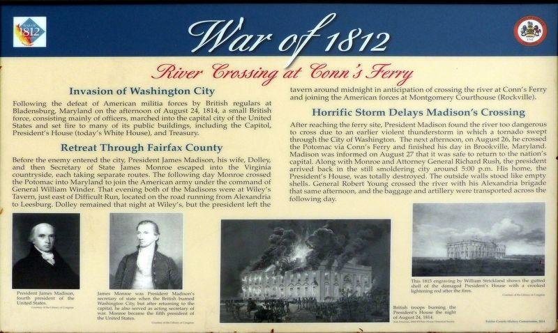 River Crossing at Conn's Ferry Marker image. Click for full size.