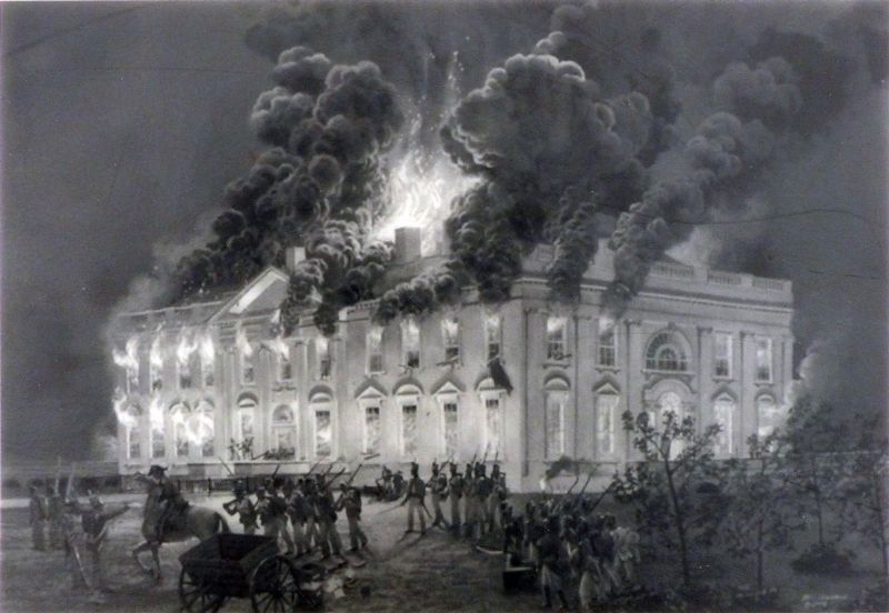 Burning the President's House image. Click for full size.