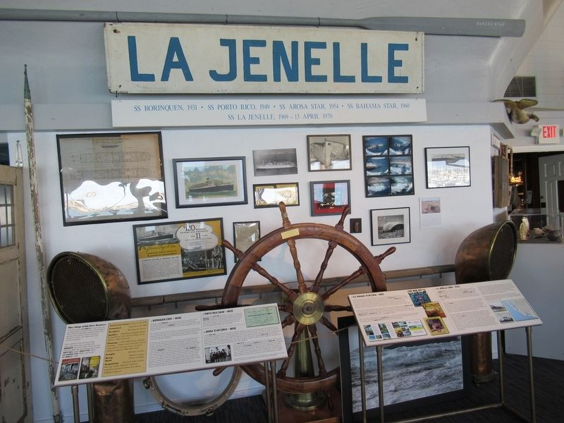 "Artifacts from ""La Jenelle"" at the Channel Islands Maritime Museum image. Click for full size."