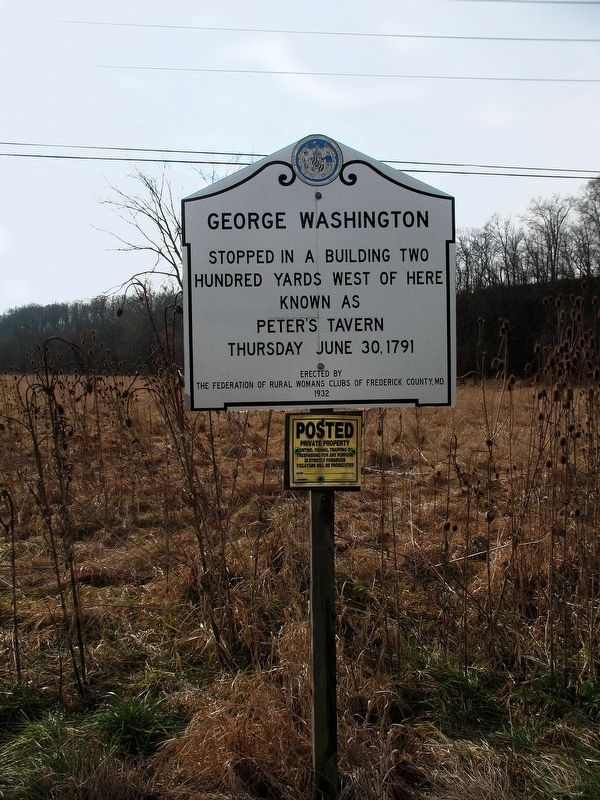 Wooden George Washington Marker image. Click for full size.