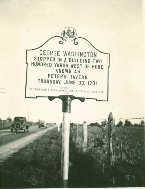 Original 1932 George Washington Marker image. Click for full size.
