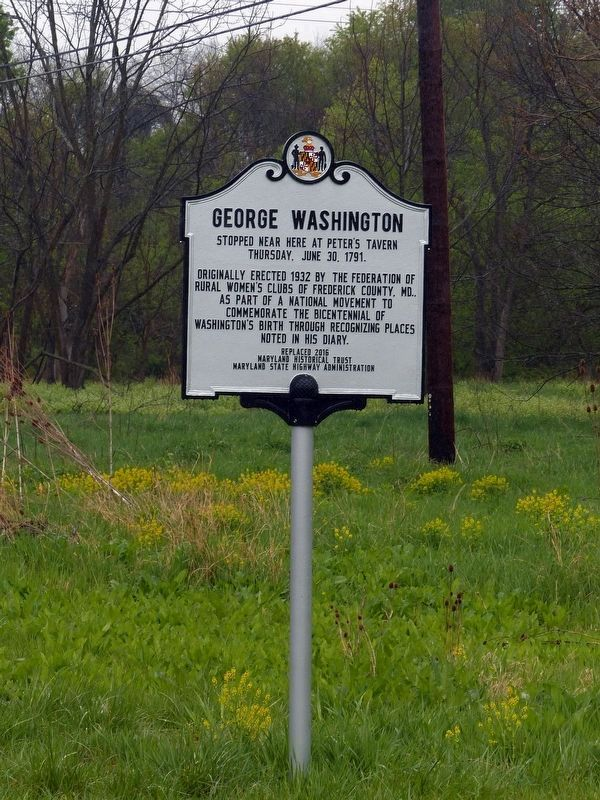 2016 George Washington Marker image. Click for full size.