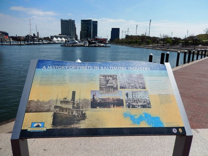 A History of Firsts in Baltimore Marker image. Click for full size.