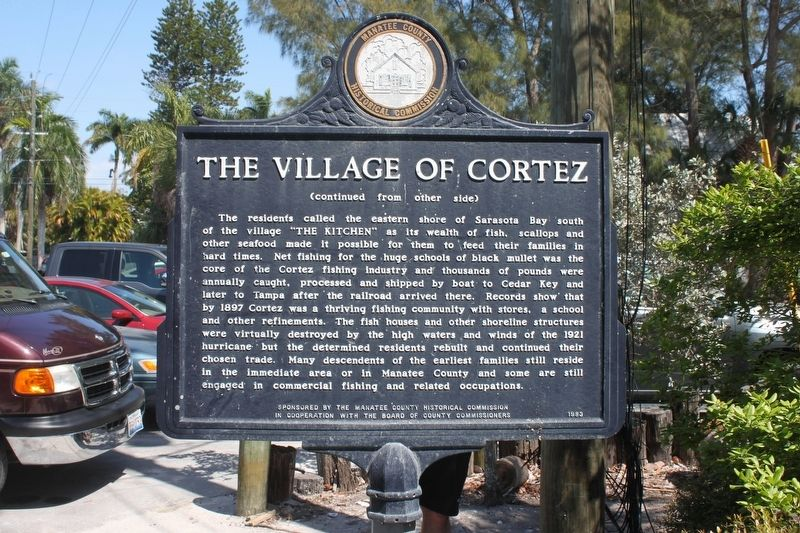 The Village of Cortez Marker-Side 2 image. Click for full size.