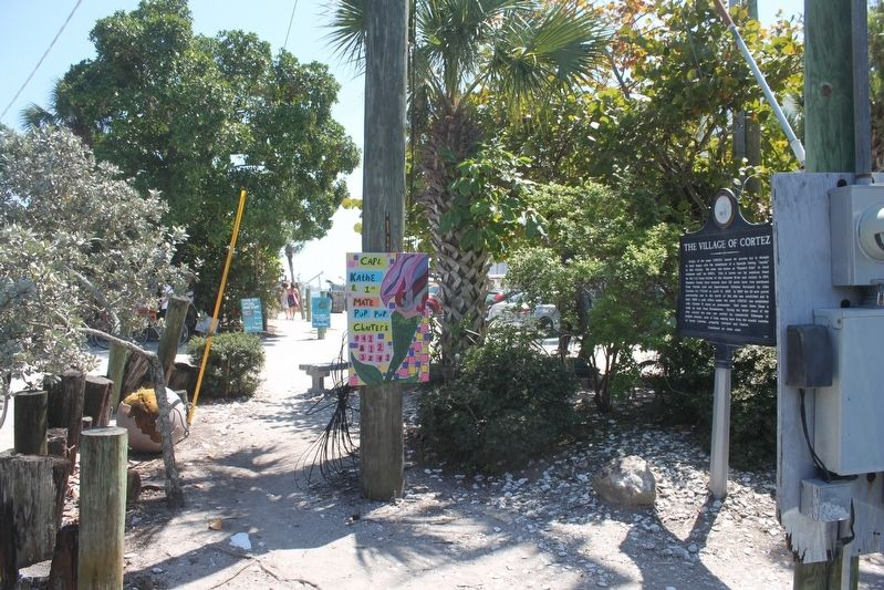 The Village of Cortez Marker looking south. image. Click for full size.
