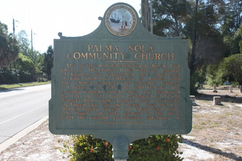 Palma Sola Community Church Marker-Side 1 image. Click for full size.