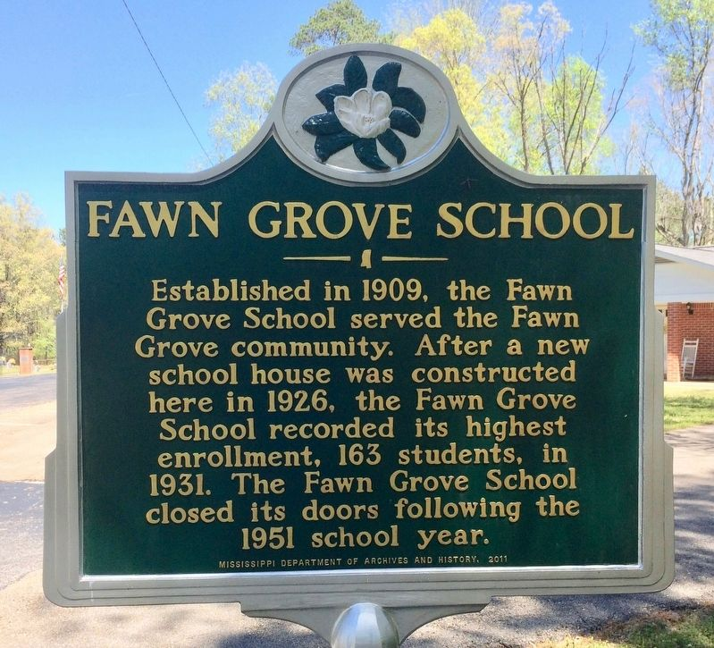 Fawn Grove School Marker image. Click for full size.