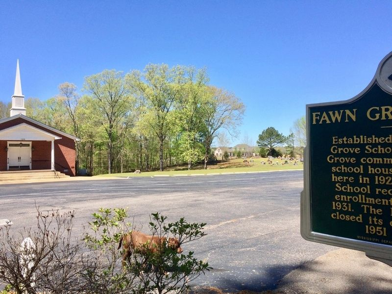 Fawn Grove School Marker near Fawn Grove Freewill Baptist Church. image. Click for full size.