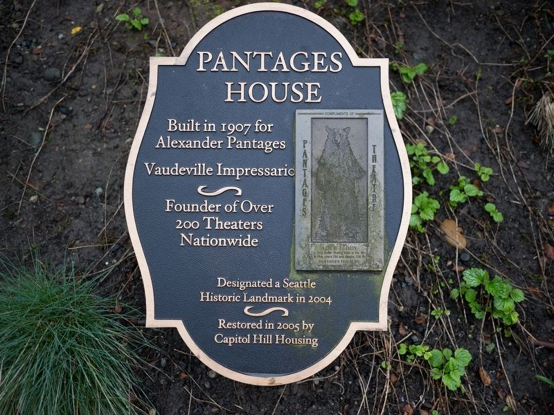 Pantages House Marker image. Click for full size.