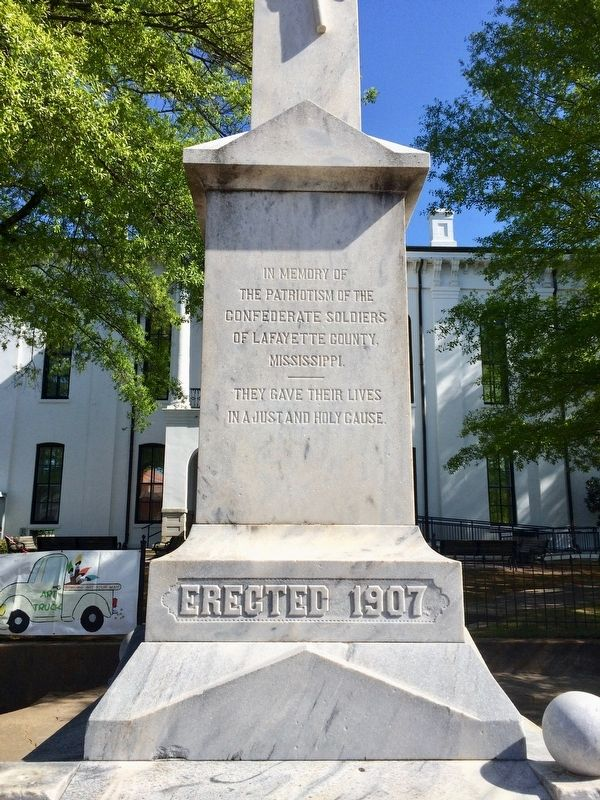 Lafayette County Confederate Monument (Front) image. Click for full size.