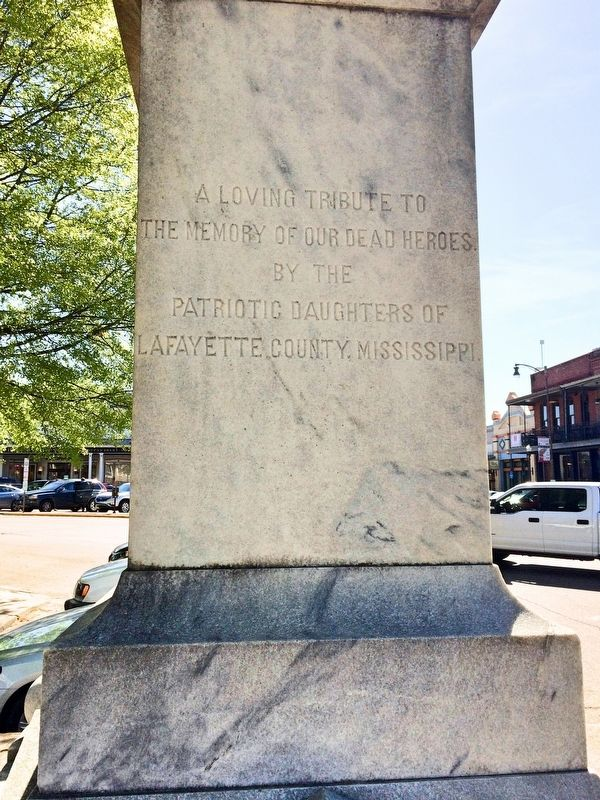 Lafayette County Confederate Monument (West side) image. Click for full size.