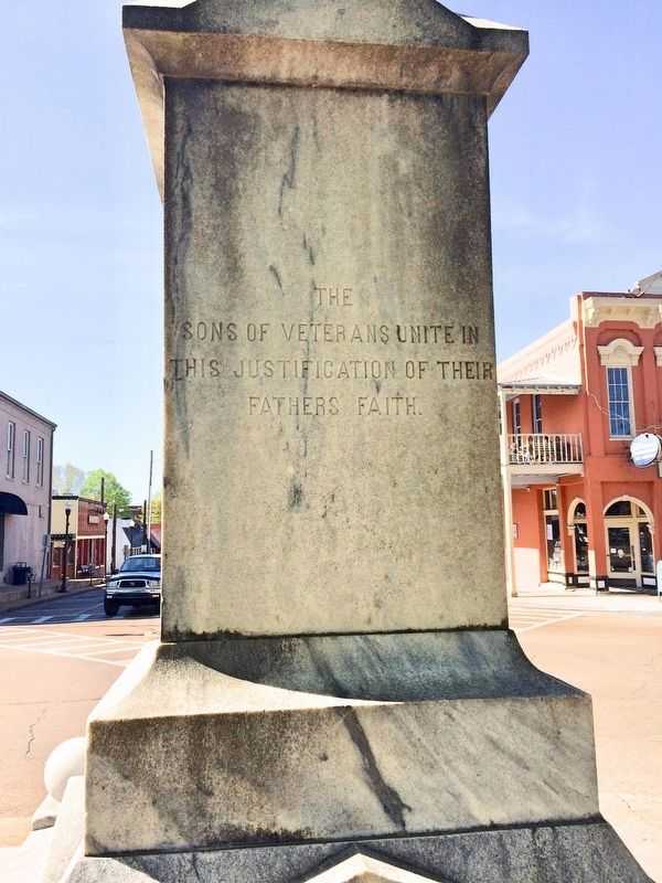 Lafayette County Confederate Monument (Rear) image. Click for full size.