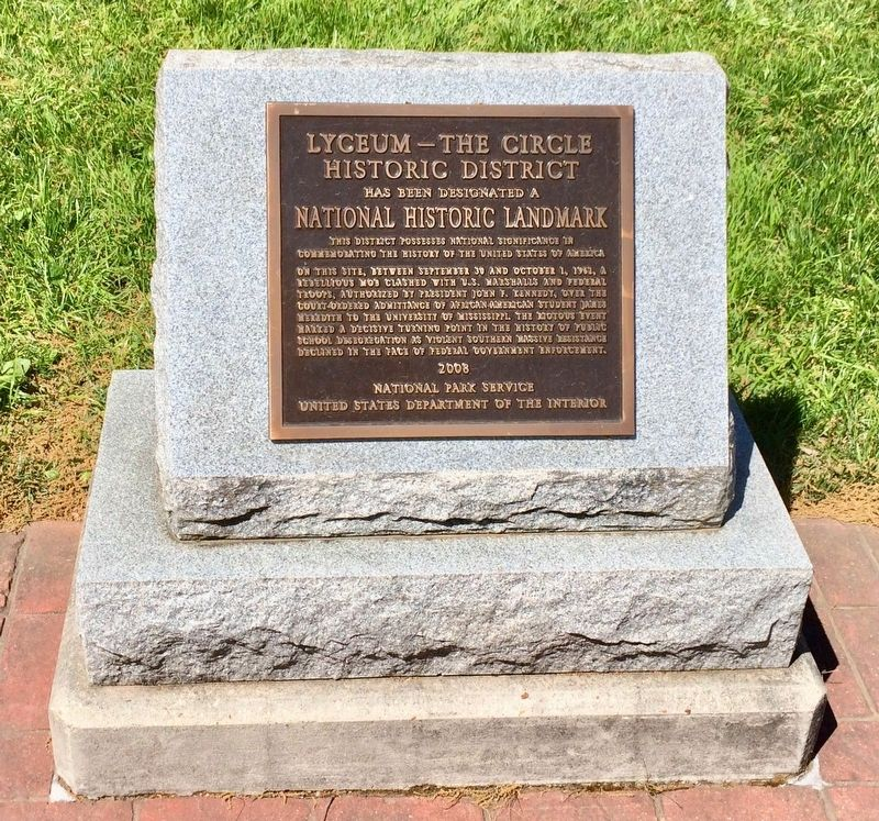 Lyceum — The Circle Historic District plaque. image. Click for full size.