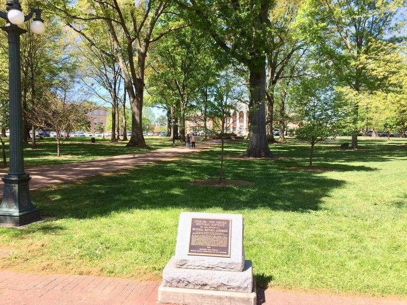 View of the University Circle and the Lyceum in far background. image. Click for full size.