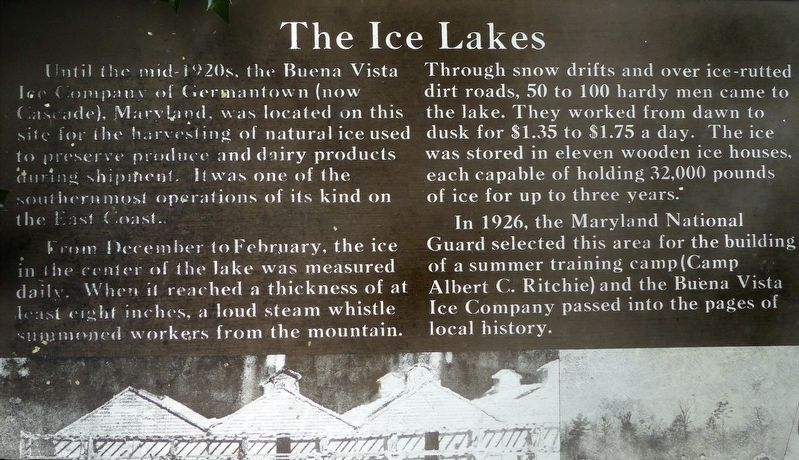 The Ice Lakes Marker image. Click for full size.