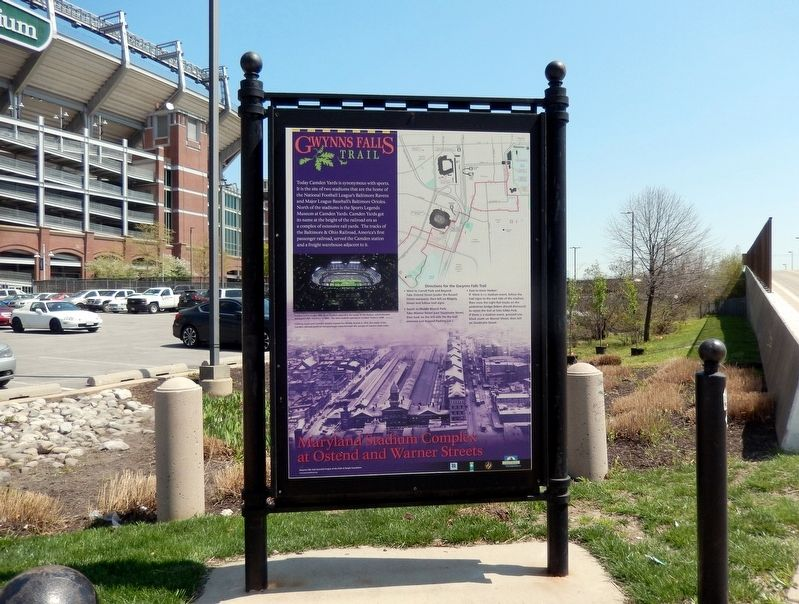 Maryland Stadium Complex at Ostend and Warner Streets Marker image. Click for full size.