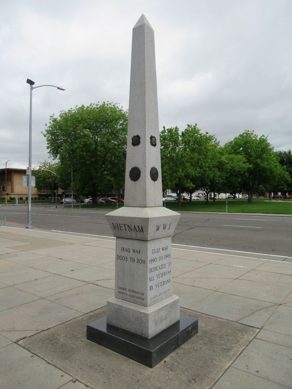 Stockton Veterans Monument Marker image. Click for full size.