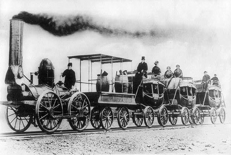 DeWitt Clinton Locomotive image. Click for full size.
