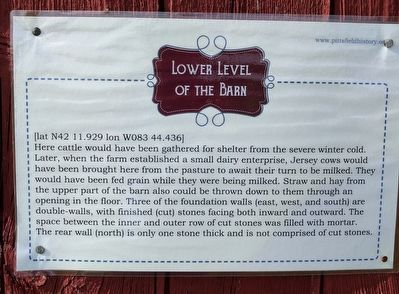 Lower Level of the Barn Marker image. Click for full size.