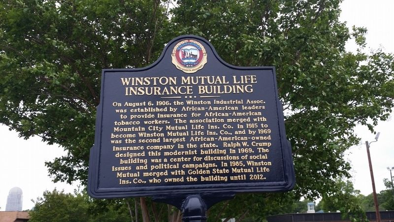 Winston Mutual Life Insurance Building Marker image. Click for full size.