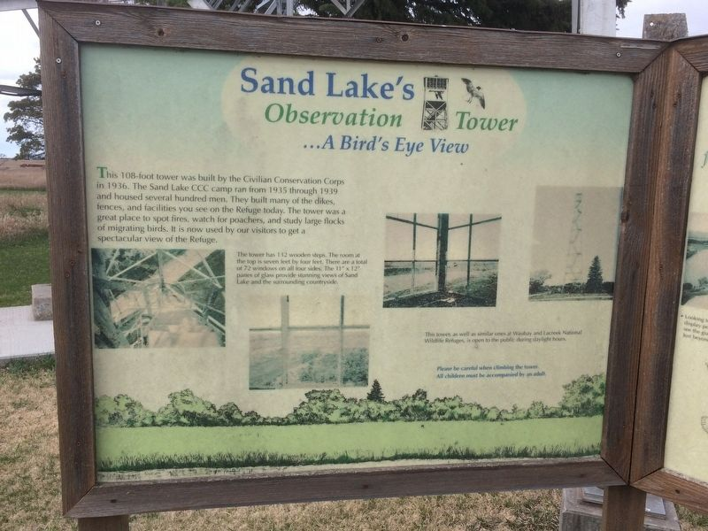 Sand Lake's Observation Tower Marker image. Click for full size.
